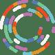 DR Hybrid Working circle icon